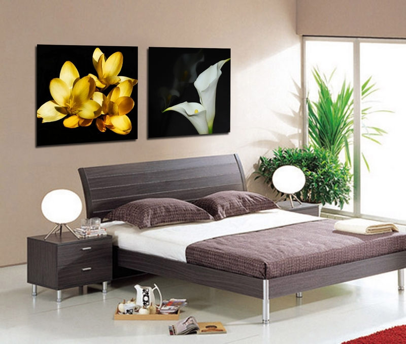 Modern Paintings Flower Canvas Art Photography Printed Pictures Hang On The Living Room Bright Artwork Gift