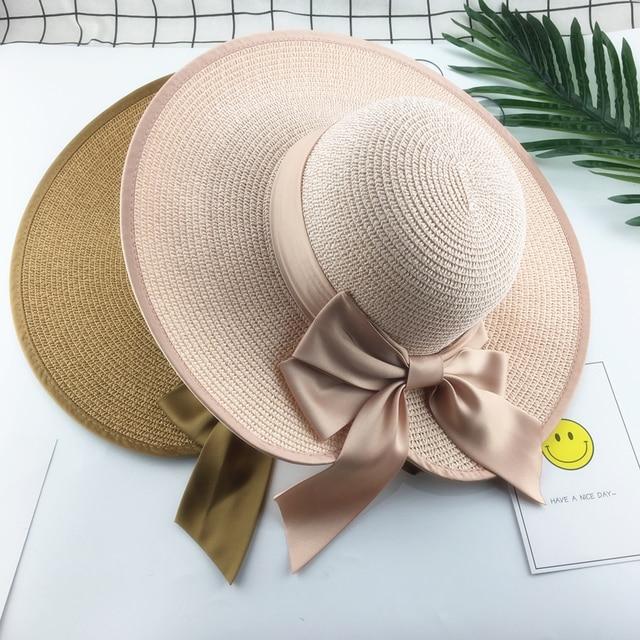 bc108f2db5465  La MaxPa  HOT Style summer large brim straw hat adult women girls fashion sun  hat uv protect big bow summer beach hat