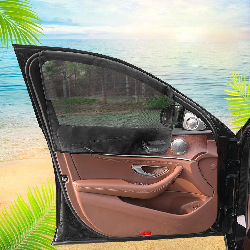 Car Sun Shade Front Window Sunshade Magnetic Curtain Protector UV Protection Foldable Kids Universal For Windshield Mini Cooper