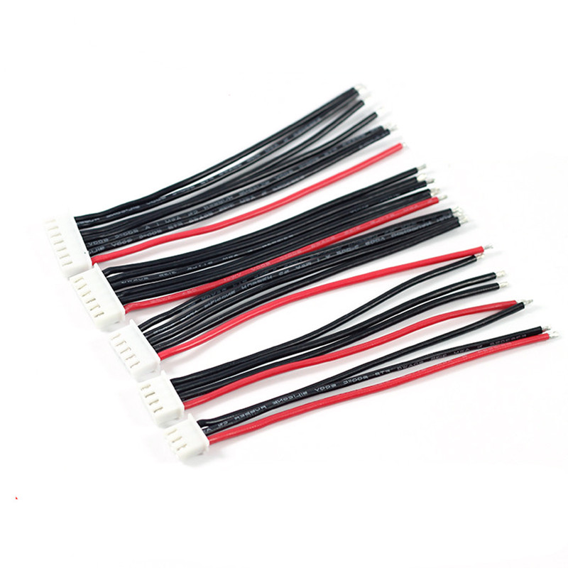 10pcs 10CM 100MM RC Lipo Battery Balance Charger Cable  2s 3s 4s 5s 6s 22AWG Cable Silicon Wire Plug For IMAX B3 B6