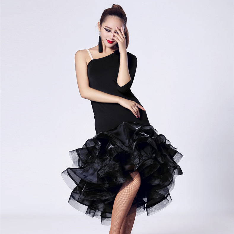 Latin Dance Skirt black/red/tiger Lady Dress For Modern Dancing Latin Dance Dresses Tango/Cha cha/Rumba Competition Dress