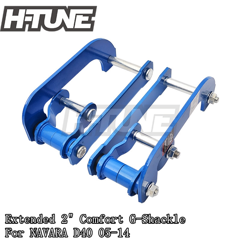 H-TUNE 4x4 Accesorios Extended 2inch Rear Comfort Double G-Shackle Lift Kit for Navara D40 05-14 lift kit for toyota hilux revo