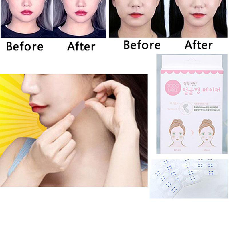 1 Box/40pcs Effective Lift  Slimming Face Sticker Thin Face Artifact Invisible Sticker Lift Chin Tape Face Lift Tools