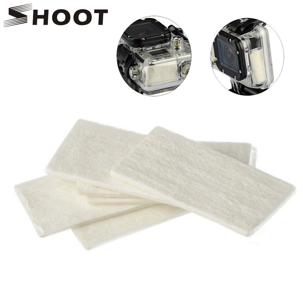 Galleria fotografica SHOOT 12Pcs Action Camera Anti Fog Inserts for Gopro 6 5 4 3 SJCAM Xiaomi Yi 4K H9 Surfing Diving Dry Mount for Go Pro Accessory