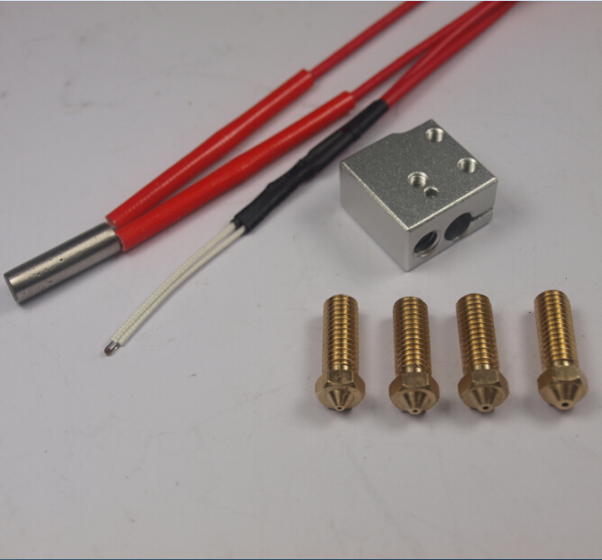ФОТО 3D printer parts 3D Volcano hot end eruption pack kit/set heater block+nozzle pack for 1.75/3 mm