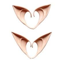 1 Pair Anime Ears Fairy Halloween Wizard Sorcerer Cosplay Accessories Headwear Elven Ears font b Toys