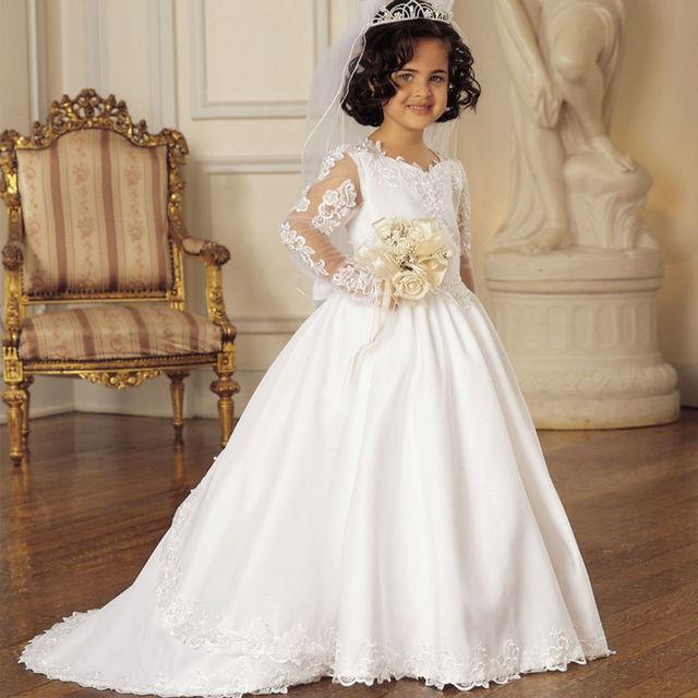 687d96b605 Kwiat Dziewczyny Sukienki Na Wesele Koronki Mermaid Suknie Wieczorowe Dla Dzieci  Dziewczyny Ubrania Matka Córka Sukienki
