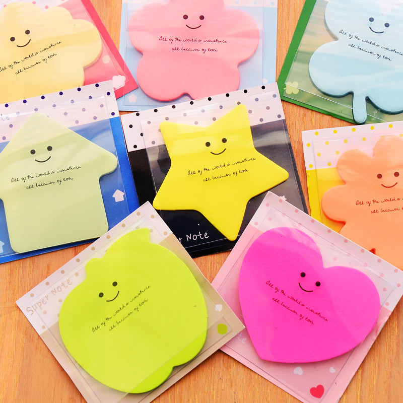 Korea Stationery 1 pcs Cute memo sticky notes Bling star Color super Post it paper stickers material School supplies Message