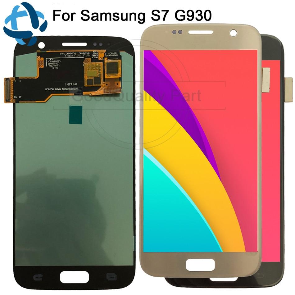 5.1 ''AMOLED remplacement LCD pour SAMSUNG Galaxy S7 affichage G930 G930A G930F SM-G930F numériseur d'écran tactile avec assemblage de cadre