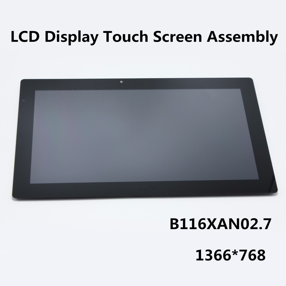 Original New 11.6 inch LCD Display Touch Screen Glass Panel Digitiser Assembly 2 in 1 For Acer Aspire B116XAN02.7 1366*768 brand new original for 2 2 inch ls022q8ud04 display
