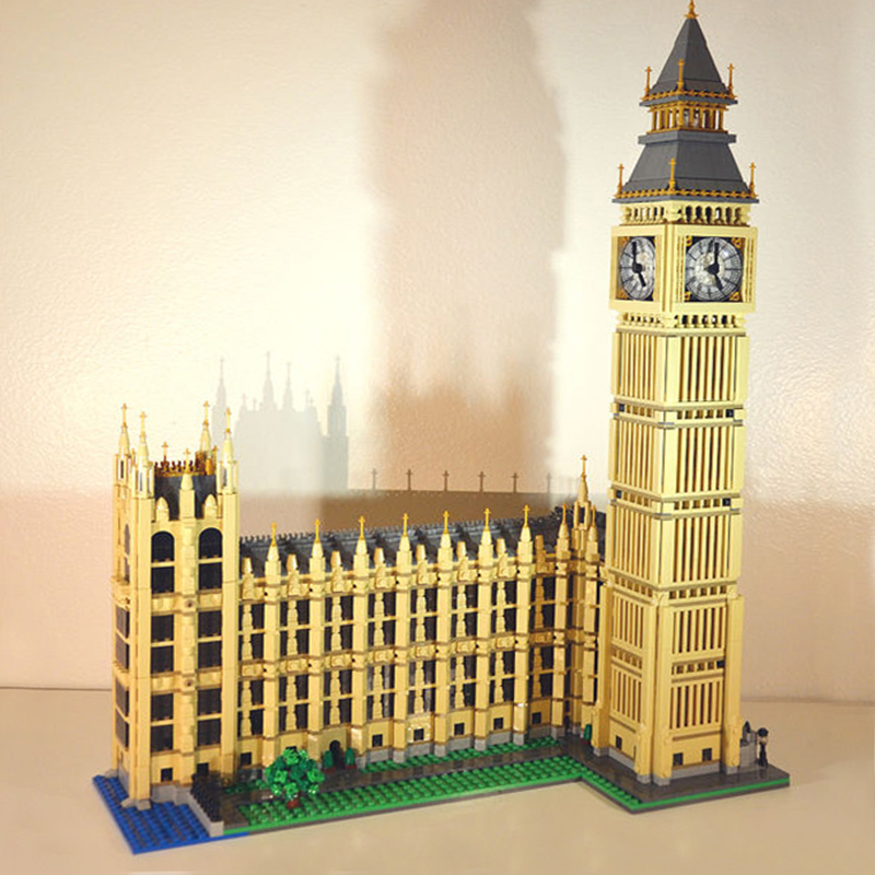 city 4163pcs 17005 Big Ben Elizabeth Tower set  Model Building Kits Block Brick DIY Toys lepin Compatible 10253 kid Gifts 3d puzzle metal earth laser cut model jigsaws diy gift world s famous building eiffel tower big ben tower of pisa toys