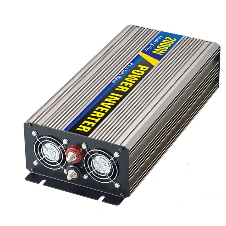 цена на Real power 2000W Car Power Inverter Converter DC 48V to AC 110V or 220V Pure Sine Wave Peak 4000W Power Solar inverters