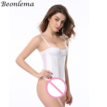 fb88f30e24 BEONLEMA Light Breathable Half Cup Corset Top White Underwear Women Waist  Trainer Bridal Lingerie Mariage Blanc