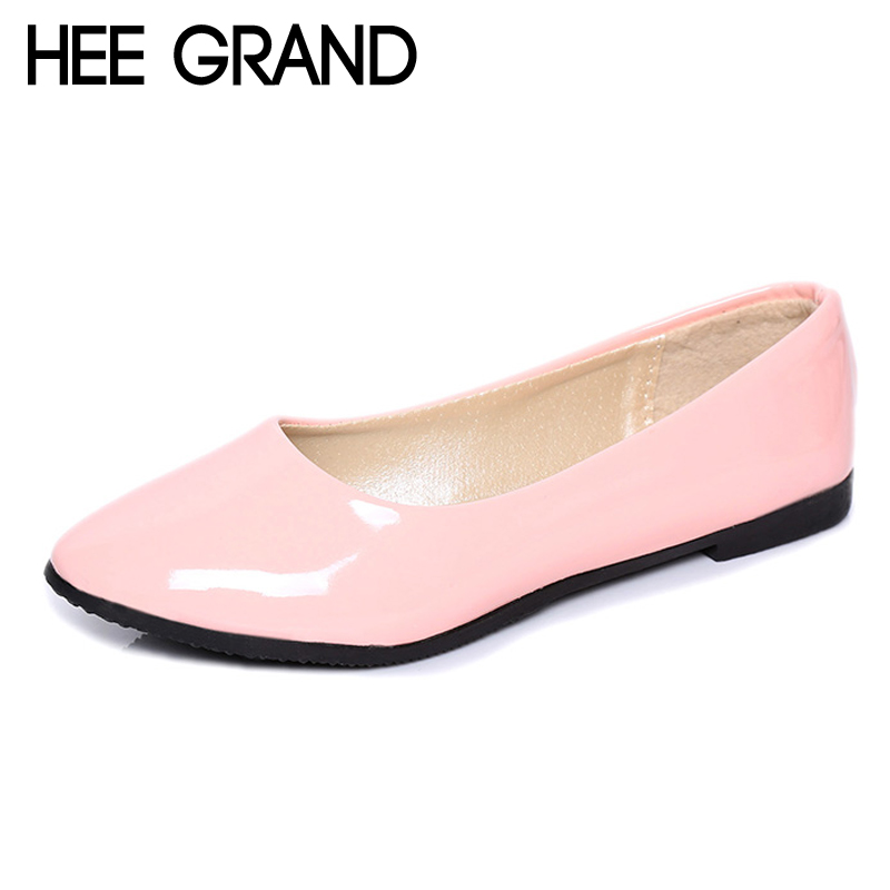 HEE GRAND 2018 Candy Colors Loafers Slip On Ballet Flats Shoes Comfortable Creepers Casual Women Flat Shoes Size 35-42 XWD6277 comfortable flat shoes ballet flats shoes large size shoes women flats 229 120 euro size 35 42