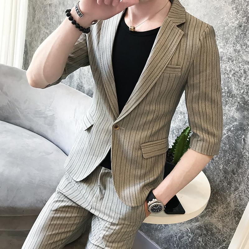 Beau tops Petit Hôte Unique Loisirs Jeunes Nouveau De Marée Costume Coréen Personnalité Hommes Pantalon 8Iprqxa8