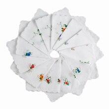 12 шт. Цветочный платок Дамский квадратный карман цветочный женский платок полотенца 30 см Новинка свадебный подарок вечерние носовой платок