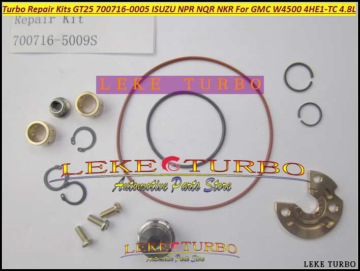 Turbo Repair Kit Rebuild GT25 700716 700716-0007 700716-0006 8972089663 8971894520 8972089661 For GMC W3500 4HE1 4HE1-TC 4.8L turbo repair kit rebuild kits gt25 700716 5009s 700716 turbocharger for isuzu npr nqr truck for gmc w3500 97 4he1 4he1 tc 4 8l
