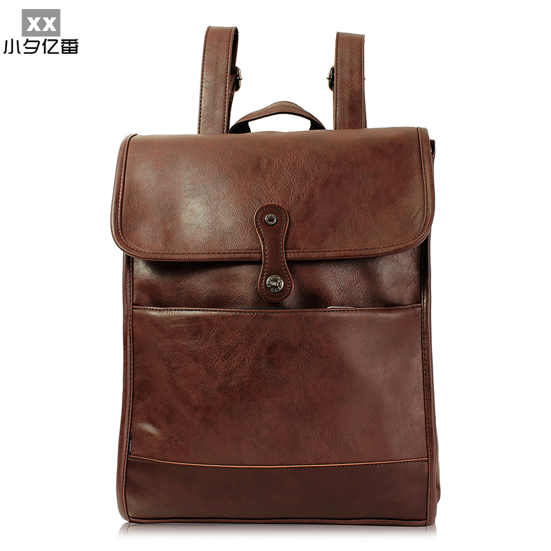 2016 Luxury Leather Backpack Large Capacity Men Backpack Fashion Casual Travel Bag for Women College Style School Bags A0150 women fashion backpack college student travel bag satchel schoolbag large capacity ladies pretty shoulders package birthday gift