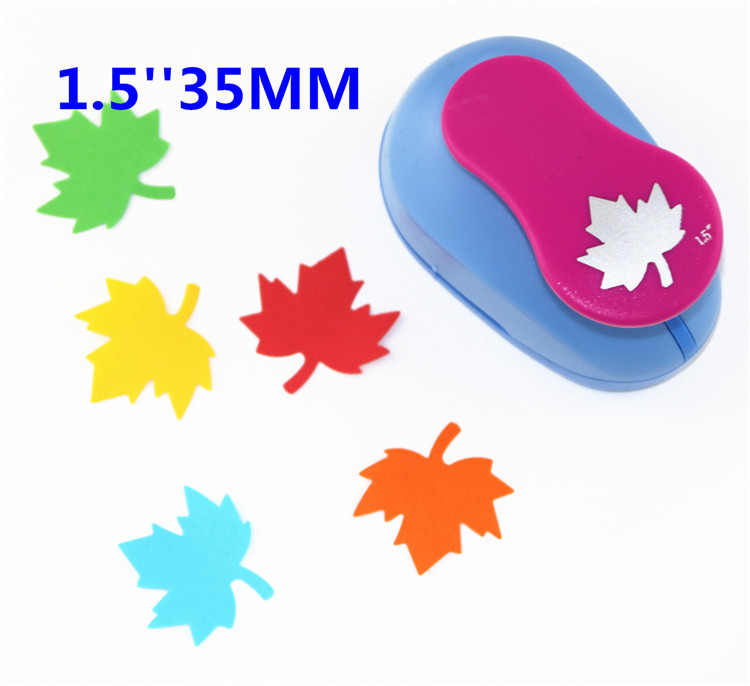 free ship maple leaf 1.5'' (35mm) scrapbook paper cutter scrapbooking punches hole punch child craft punch Embosser kid S2936-9 free shipping plane 1 5 35mm hole punch scrapbook paper cutter diy punches child craft tool embosser kid s2936 2