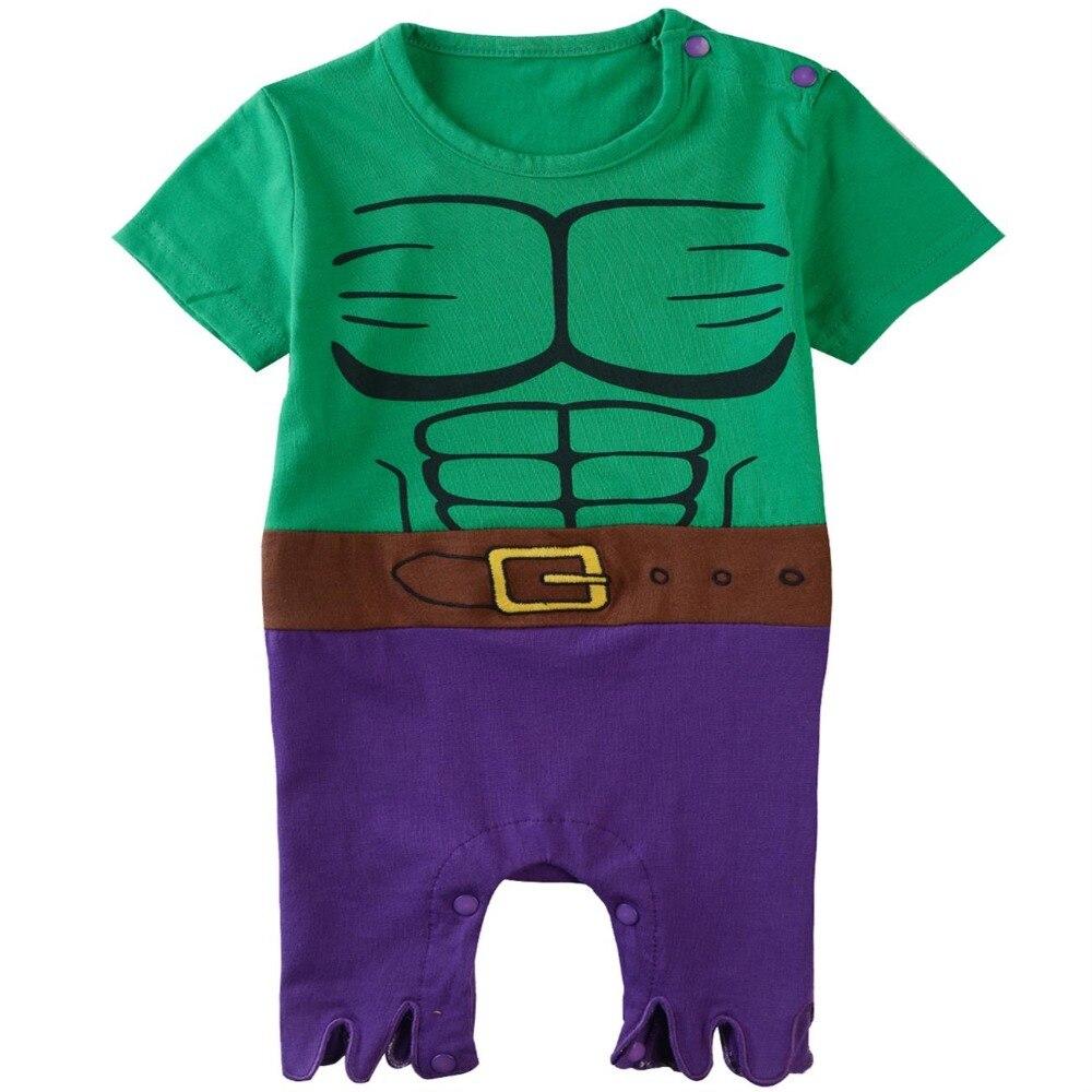 Bébé garçons Hulk Costume barboteuse nouveau-né super-héros fête combinaisons infantile Avengers combishort Halloween Costume pour bébé garçon