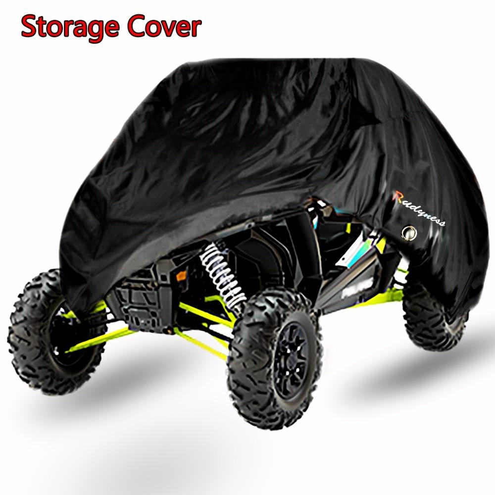 Universal Black Weatherproof Storage Covers For Polaris RZR XP 900 1000 XP Turb Two Seat UTV