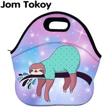 Jom Tokoy sloth Thermal Insulated print Lunch Bags for Women Kids Bag Box Food Picnic Tote Handbags Wcb726