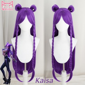 Image 1 - 【Anihut】LOL Game Cosplay Wig KDA POP/STAR Kaisa  Cosplay Wigs Women Long Straight Purple Wig LOL KDA Kaisa KPOP SKIN Hair