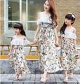 2016 nuevo verano Bohemio vacaciones en la playa vestido a juego de la familia del padre-niño outfit madre e hija vestido largo
