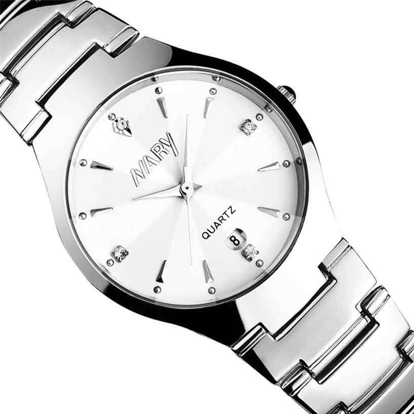 1PC Luxury Men Single Calendar Quartz Stainless Steel Date Wrist Watches Gift relogio masculino Uhren relojes NOV25 5Up