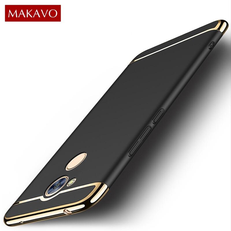 MAKAVO For <font><b>Huawei</b></font> Honor 6C <font><b>Case</b></font> 3in1 Plating Matte Hard Housing Back Cover For <font><b>Huawei</b></font> <font><b>Nova</b></font> <font><b>Smart</b></font> <font><b>Phone</b></font> <font><b>Cases</b></font>