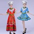 Senhoras roupas Hmong roupas Miao Hmong miao vestido para as mulheres traje hmong bordado chinês dança folclórica traje Com Chapéu