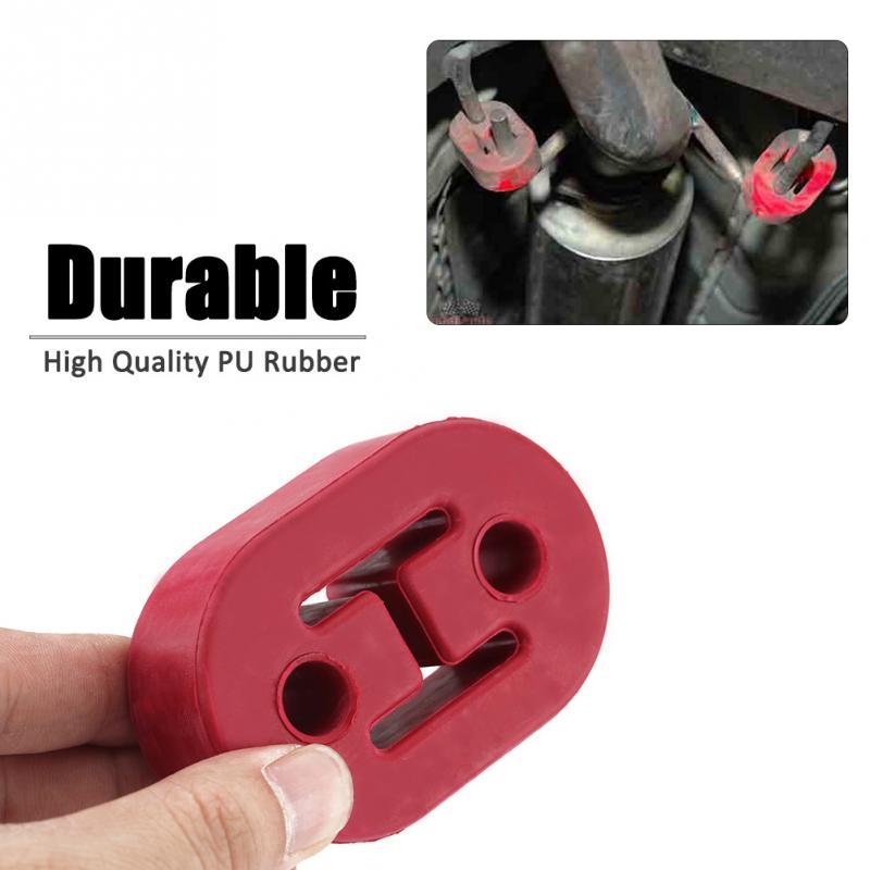 2Pcs Universal Exhaust Mount Rubber Insulator Grommet Hanger Bushing 2Holes Red