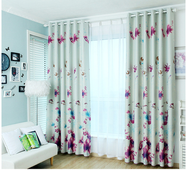 Attractive Pastoral Floral Curtains Butterfly Flower Cloth Curtains Window Curtain For  Bedroom And Living Room