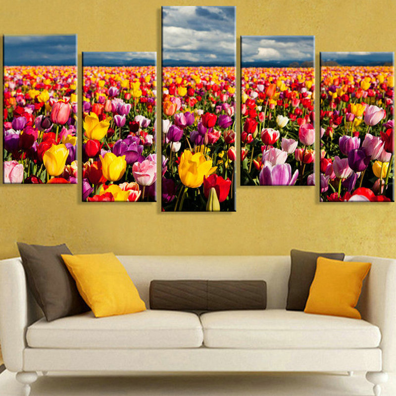 DIY 5D Diamond Painting cross stitch tulip garden full square Diamond embroidery flower scenic pattern Rhinestone Mosaic PictureDIY 5D Diamond Painting cross stitch tulip garden full square Diamond embroidery flower scenic pattern Rhinestone Mosaic Picture