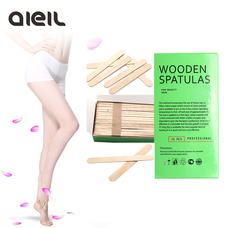 100PCS Wooden Body Hair Removal Sticks Wax Waxing Disposable Sticks Beauty Toiletry Kits Wax Waxing Disposable Sticks 1 pair boxing training sticks target mma precision training sticks punching reaction target muay thai grappling jujitsu tools