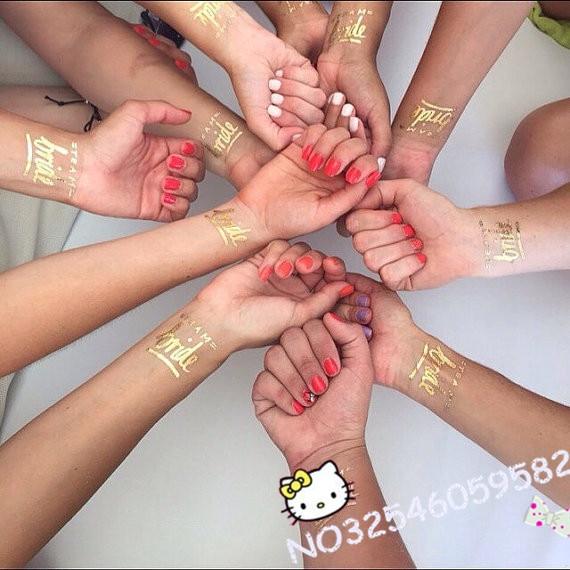 1pcs Gold Team Bride Temporary Tattoo Bachelorette Party Accessories Bridal Shower Wedding Decoration Hen Favor On Aliexpress