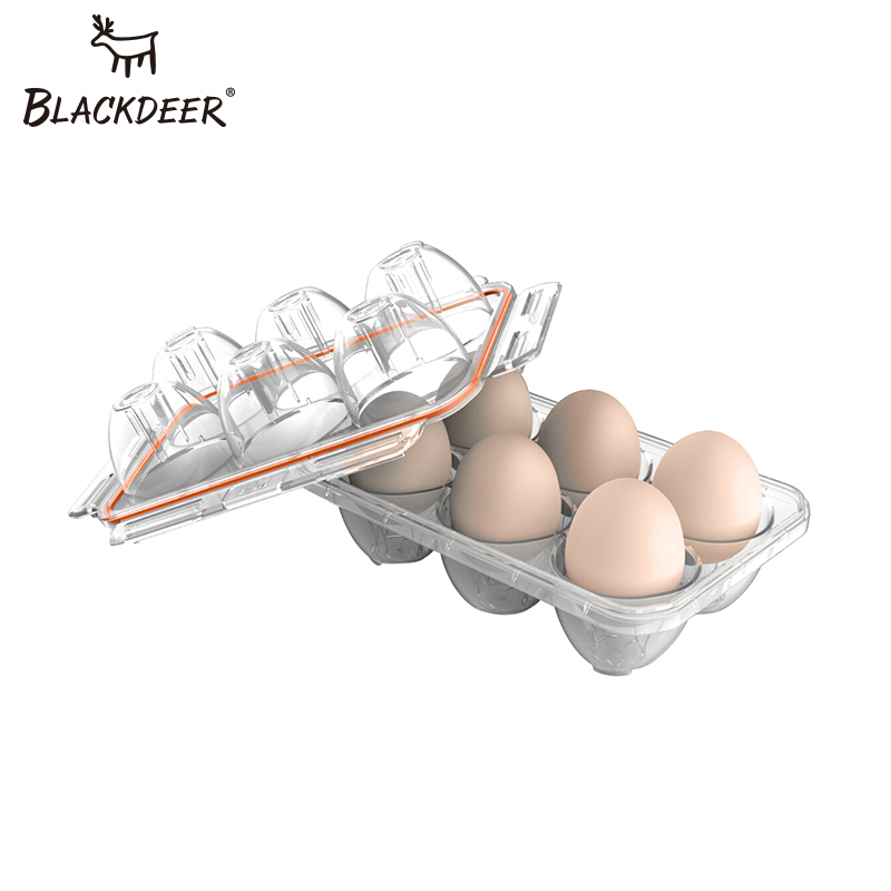 BLACKDEER Outdoor Tools Fresh Egg Transparent Storage Box Travel Walking Tray Equipment Camping Picnic Set Travel Tableware