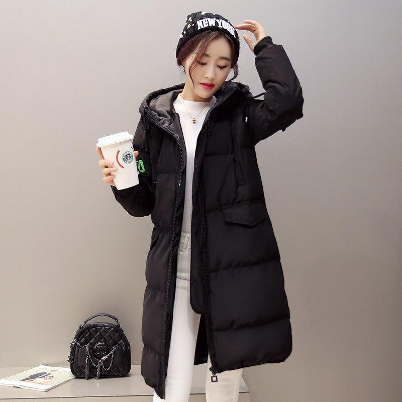 Spessore Inverno Caldo Zipper green Abiti Cotone Lunghe Donne Di Donna Nuove gray 2018 Maniche Cappotto Modo white Black A Outwear Parka Cc263 xvC6w