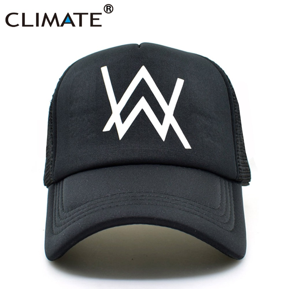CLIMATE Alan Walker Faded Music Summer Cool Trucker Caps 2017 Popular Music Faded HipHop Cool Baseball Mesh Net Trucker Cap Hat alan walker