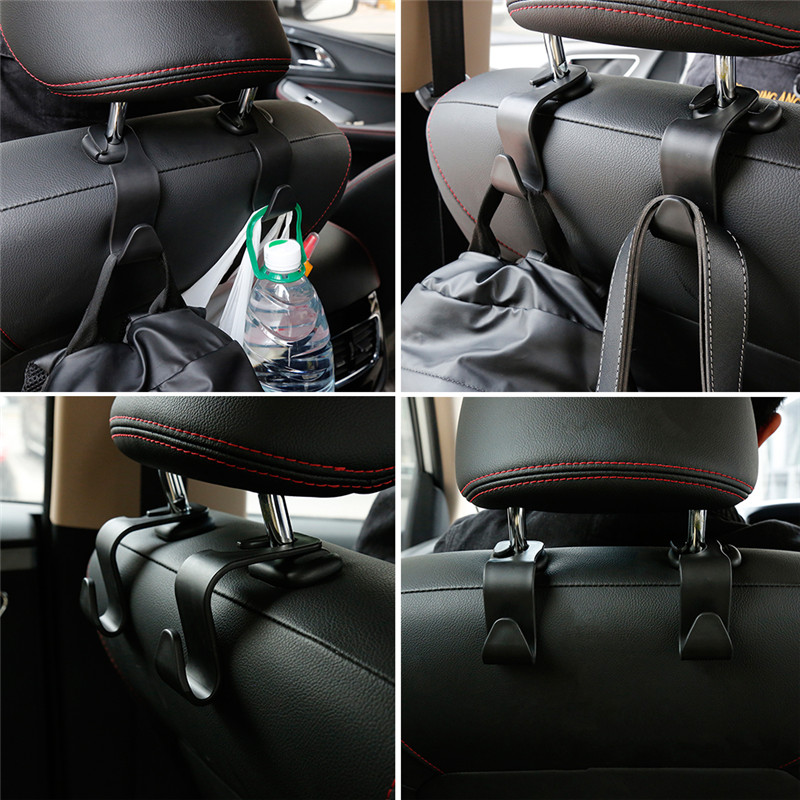 Dropship Vehicle Universal Car Back Seat Hooks Muiltifunction Auto Hanger Bag Organizer Headrest Automobile Interior Accessories