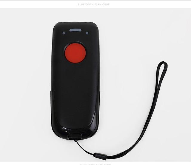 Scanhero kieszonkowy bezprzewodowy skaner kodów kreskowych na bluetooth laserowe przenośny czytnik czerwone światło kreskowych CCD skaner kodów dla IOS Android Windows