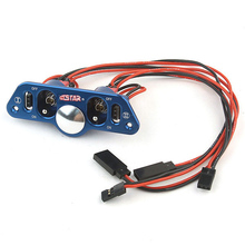F08029 Brand Heavy Duty Metal Dual Power Switch with Fuel Dot Blue for RC Helicopter Car Boat Aircraft Engine Part
