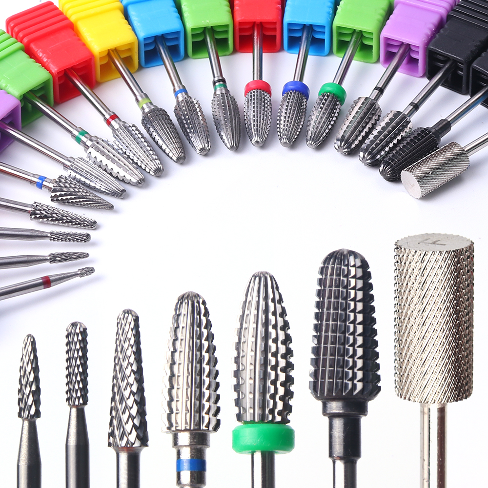 1pcs Tungsten Cutters For Milling Machine Manicure Metal Nail Drill Carbide Cuticle Bit Gel Polish Removing Nail Art Tool BE1014