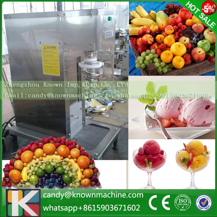 Digital speed control stainless steel gelato soft nut ice cream fruit blender mixer machine