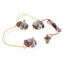 1 Set DIY Bass Wiring Harness A250K B250K Potentiometers For Jazz Bass Accessory цены