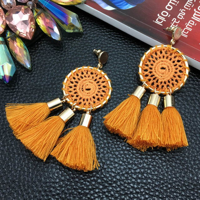 Weaving Tassels Earrings