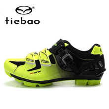 цена на TIEBAO Professional Bicycle Nylon-fibreglass Sole Shoes Breathable MTB Cycling Shoes Men Women Mountain Bike Self-locking Shoes