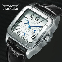 JARAGAR Top Brand Luxury Watches for Men Women Unisex Automatic Mechanical 3 Working Sub dials Fashion Dress Wrist Watch Man