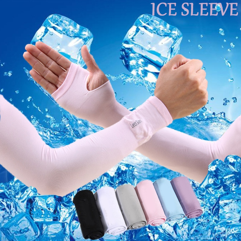 Summer Sun Protection Arm Sleeve Warmers Elbow Protector Outdoor Cycling Arm Sleeves UV Rays Protect Cool Sleeve Uv Gloves