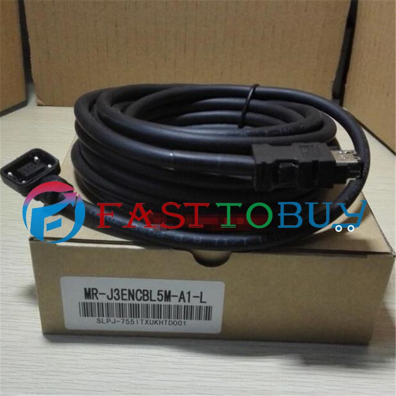 NEW MR-J3ENCBL5M-A1-L Compatible Mitsubishi Servo Encoder Cable 5M One Year Warranty new mr bks1cbl5m a1 l compatible mitsubishi servo brake cable 5m year warranty